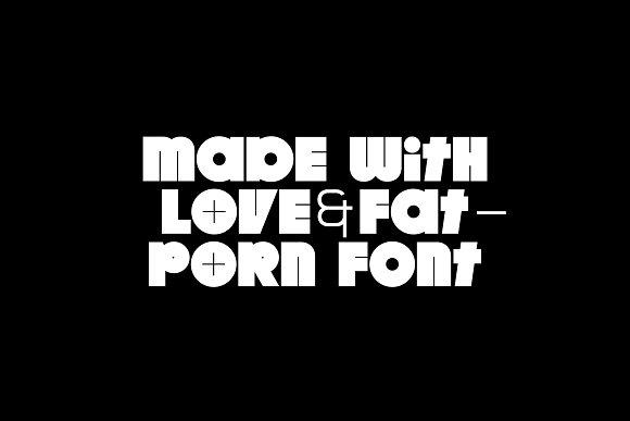 Fat Porn Font 2018