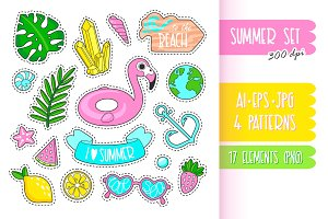 Cute Summer Stickers.