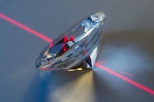 Diamond and laser