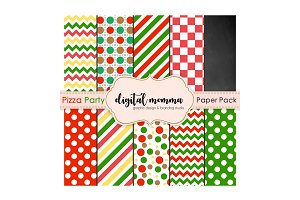 Pizza Party Digital PaperPack
