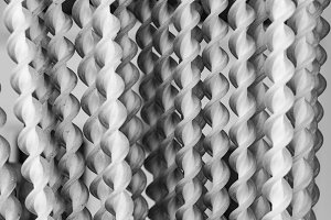 Fringe Curtain Detail in Black White