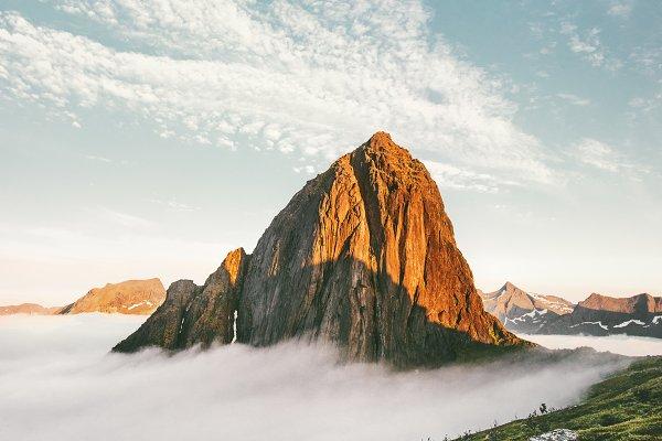 Nature Stock Photos: e v e r s t - Sunset Mountain peak Landscape