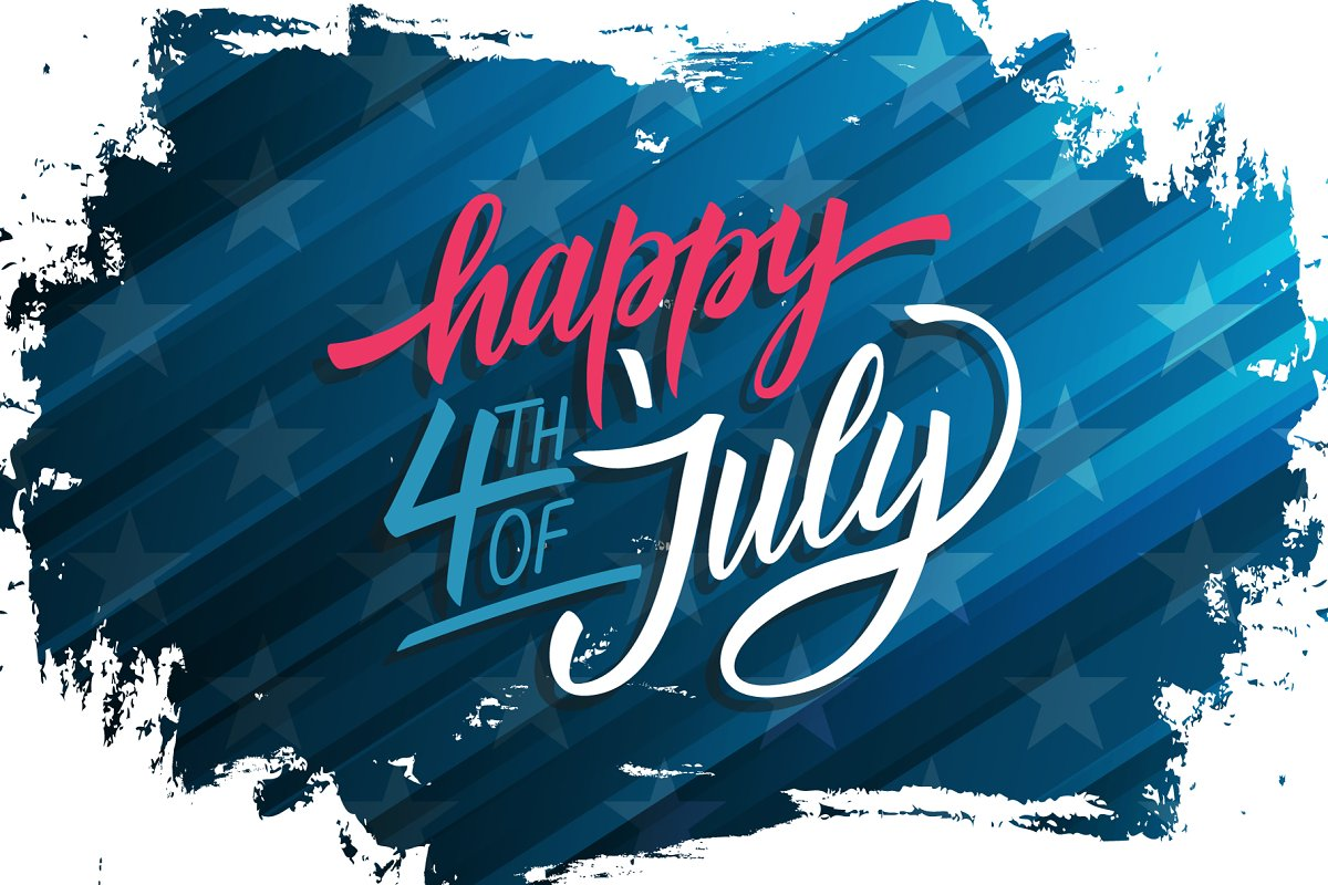 Happy 4th Of July Banner Graphics Creative Market