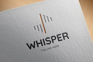 Whisper Logo Template