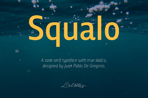 Sans Serif Fonts: Letritas - Squalo, 85% OFF Launch Offer
