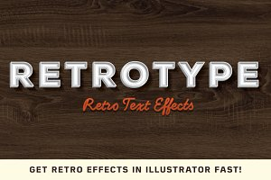 RetroType -Illustrator Kit