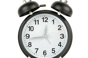 Big black alarm clock