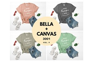 Bella Canvas TShirt Mockup Bundle V9