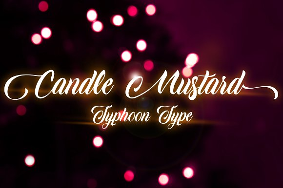 candle script font