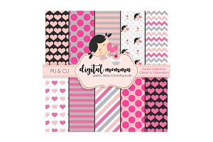 Sweet Valentine Clipart & Paperpack