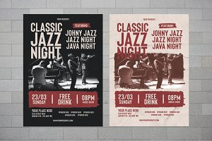 Classic Jazz Night Flyer