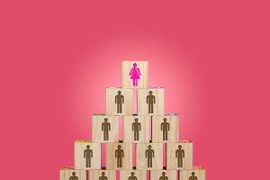 Modern organization with women in senior positions