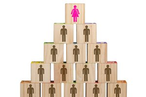 Modern organization with women in senior positions