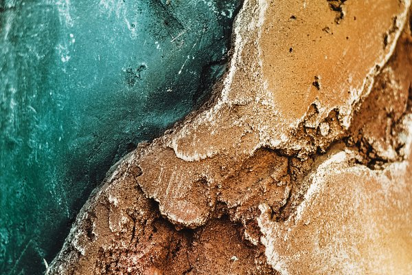 Abstract Stock Photos: My world is my eyes - stone. Texture of relief stone with a golden hue and sea color. wallpaper and background. horizontal