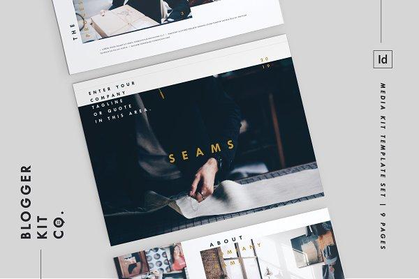 Templates: Blogger Kit Co. - Blog Media Kit + Sponsorship | 9 Pgs