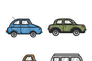 Collection of cars illustration