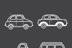 Illustration of collection of cars
