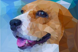 Beagle vector polygon geometric