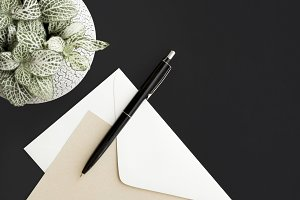 Minimalist Stationery Flat Lay