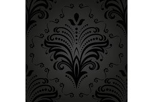 Damask Seamless Vector Pattern. Orient Background