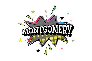 Montgomery Comic Text in Pop Art Sty