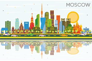 Moscow Russia City Skyline