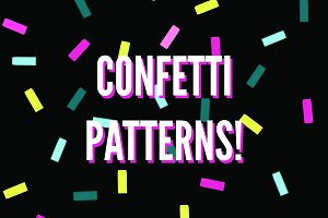 Confetti sprinkle pattern background