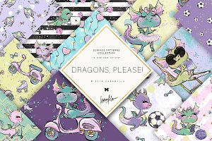 Cute Dragon Patterns