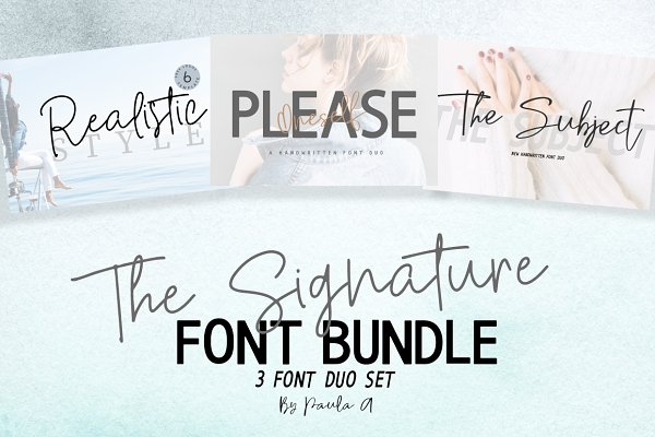 Fonts: Paula A. - The Signature Font Bundle