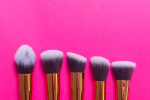 Set of Professional  Makeup Brushes