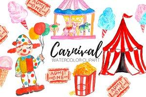 Watercolor Carnival Clipart