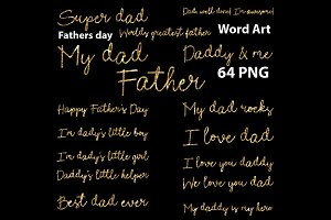 Fathers Day Word Art