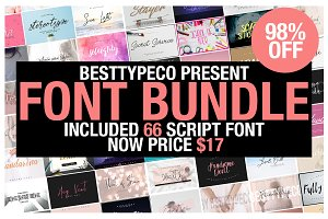 ALL my FONT 66 BIG Bundle Collection