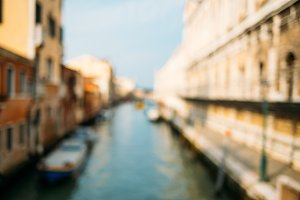 Venetian canal with boats.