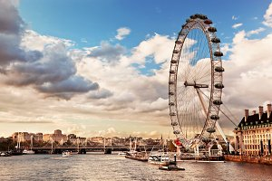The London Eye on River Thames