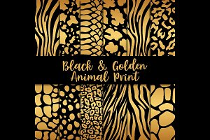 Black & Golden Animal Print