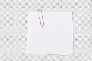Empty note paper paperclip PNG
