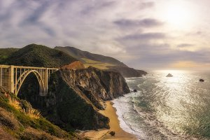 Bixby Bridge and Pacific Coast Highway