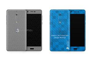 Nokia 5 Vinyl Skin Design Mockup