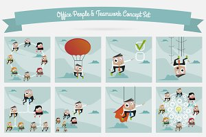 Office people & Teamwork Concept Set