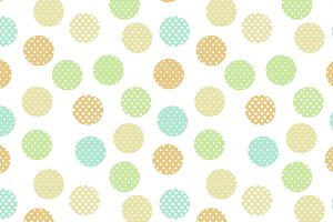 Pastel doted circle seamless pattern
