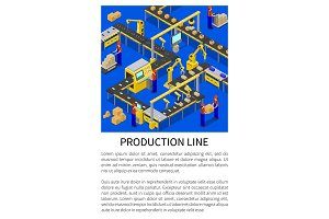 Production Line Abstract Scheme of Modern Factory
