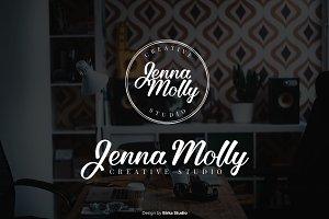 Jenna Molly Premade Logo