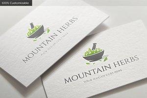 Mountain Herbs Logo Template