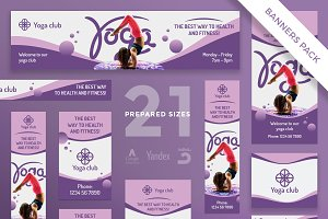 Banners Pack | Yoga Fitness Club