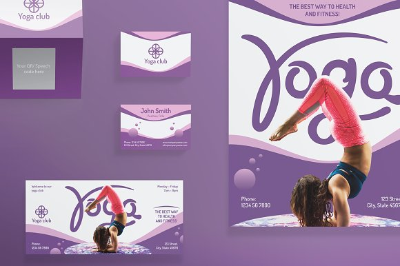 Print Pack   Yoga Fitness Club