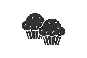 Cupcakes glyph icon