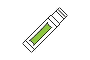 Chewing gum stick color icon