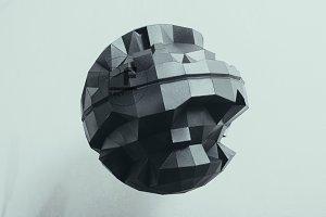DIY Death Star II 3D model template