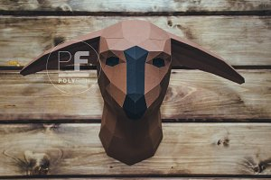 DIY Fathier Head 3D model template
